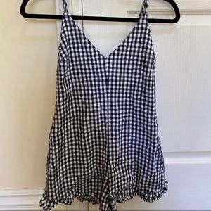 PacSun Kendall & Kylie checkered romper